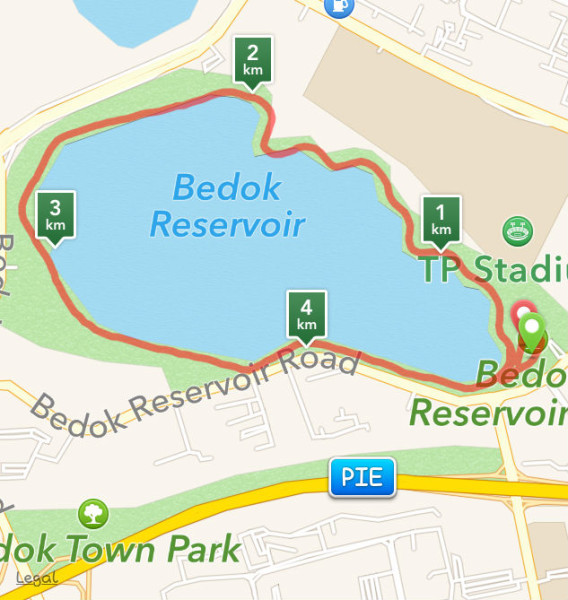 Run To Walk is a scenic 4.8km route around the Bedok Reservoir.
