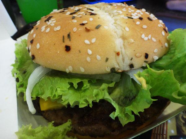 Spicy Beef Burger.