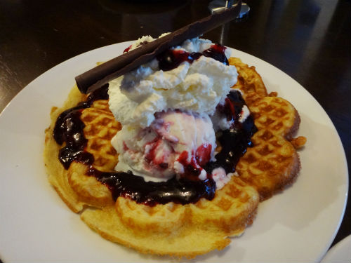 Mixed berry waffle.