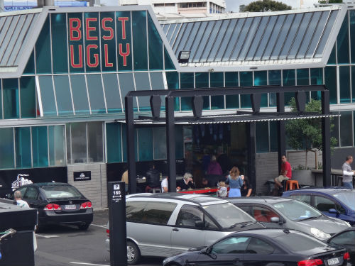 Best Ugly Bagels is a small takeaway shop in Auckland.