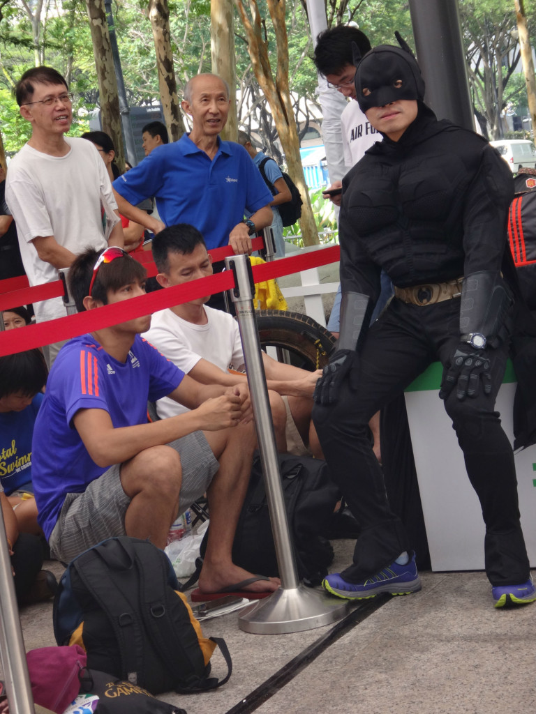 Batman is their personal bodyguard.