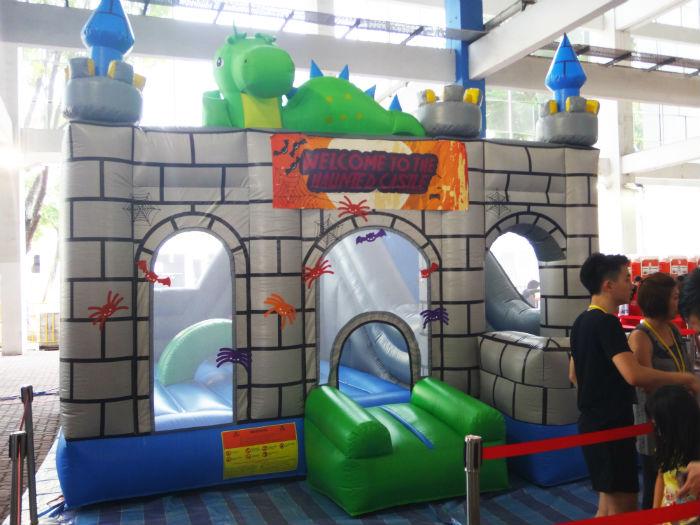 The cute bouncy castle!