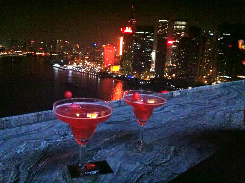 Rooftop view of the Bund from Char bar. (Picture courtesy of Jia Zhen).