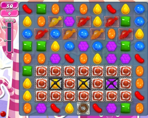 Candy Crush Level 492. (Image from Candy Crush Wikia).
