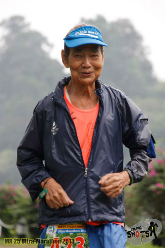 Chan Meng Hui tackling the MR25 Ultra Marathon 2013.