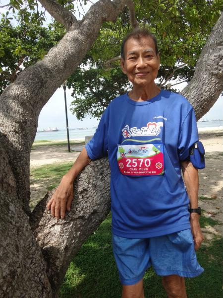 Inspirational 84-year-old runner Chan Meng Hui.