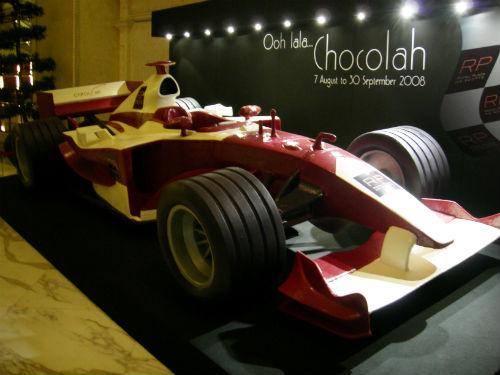 Chocolate F1 race car in 2008.