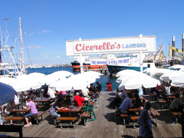 One of Fremantle's many seaside dining outlets.