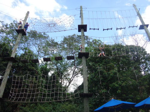 A section of the Climbmax rope obstacle course.