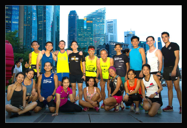 A group photo before the short run. Credit: Ming Ham