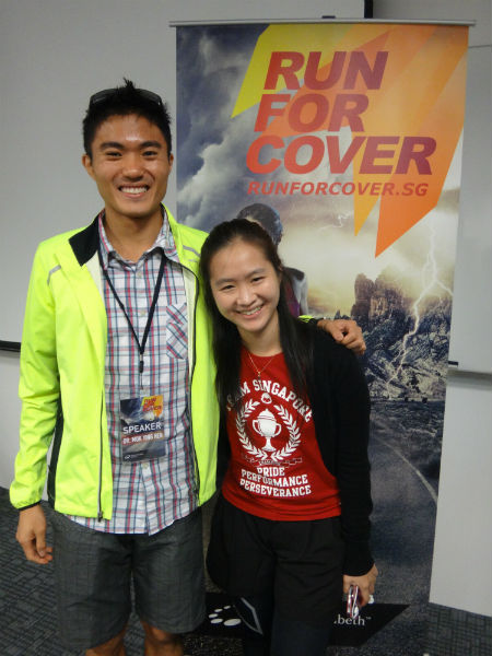 With Mok Ying Ren at the Run For Cover clinic.