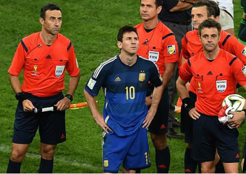 At least there's a consolation prize for Messi - the Golden Ball award. (Image: straitstimes.com)