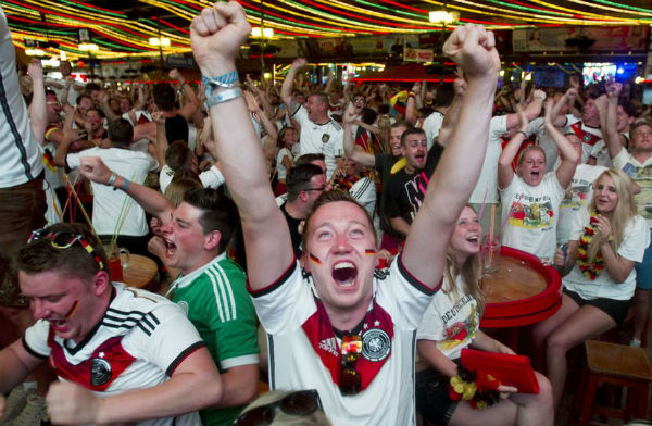 Massive contrast of mood in the German camp. (Image: bbc.co.uk)
