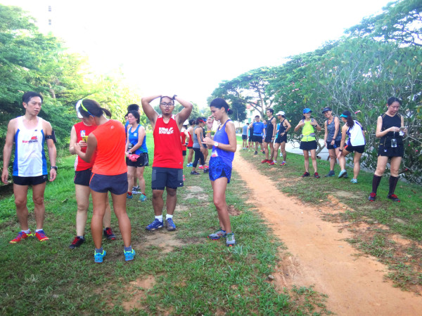 Runners taking a break @ the Green Corridor.