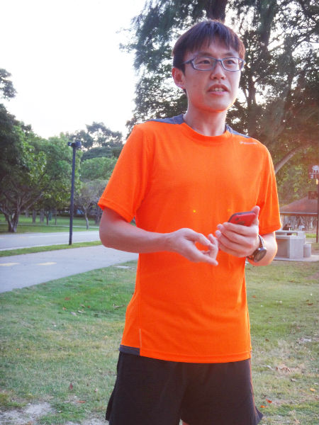 Top Singaporean runner, Derek Li.