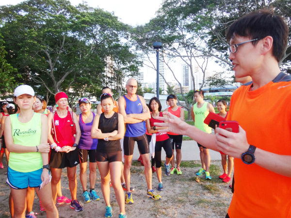 Derek Li shares his tips with runners.