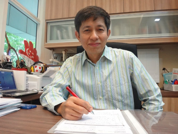 Dr Patrick Goh in his office.