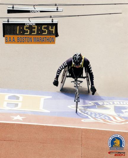 Dr Tan completes the Boston Marathon.