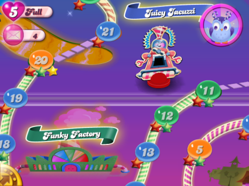 Dreamworld is an alternative Candy Crush universe.