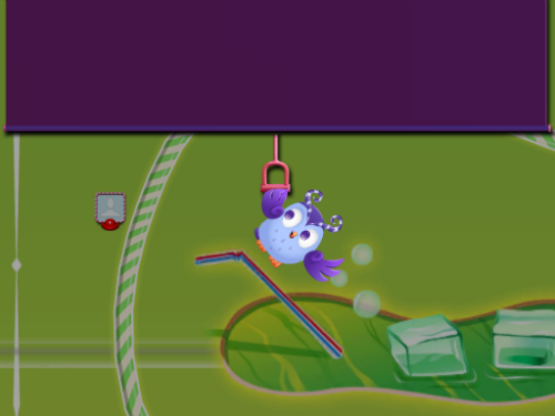 Odus the Owl pulls a screen down on the normal Candy Crush board and you enter Dreamworld.