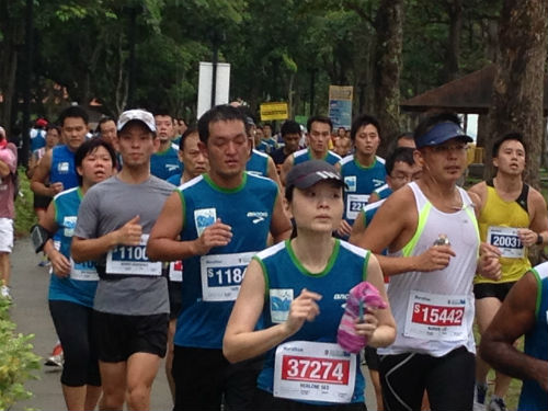 Marathoners take over East Coast Park.