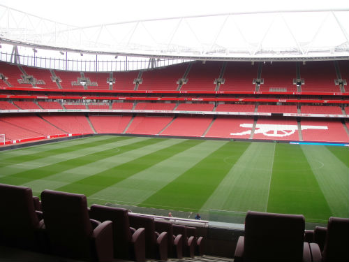 The Emirates Stadium, home to London's No. 1 football club.