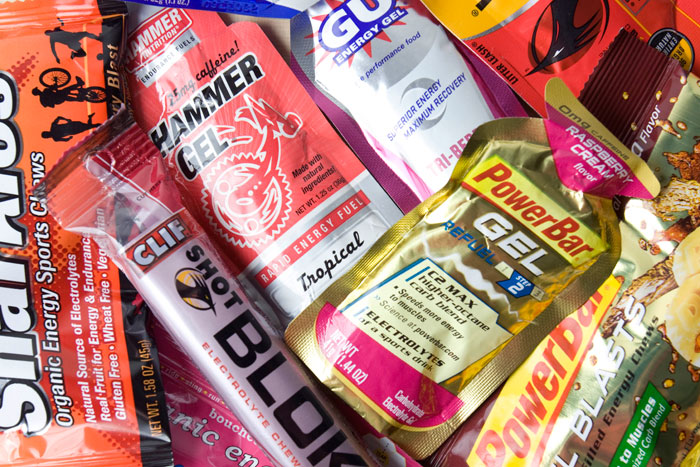 Gels are also an important fuel for runners. Photo by running.competitor.com