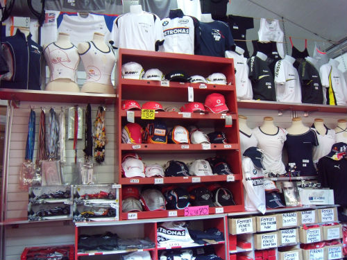 You can buy comfortable merchandise from the circuit park shops.