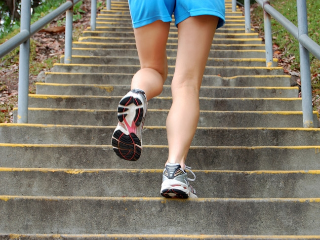 Stairs helps when there's no hills around. [Photo from www.momtastic.com]