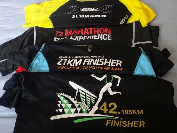 Wear race finisher tees correctly