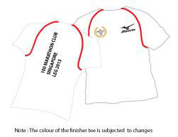 Those who complete the race will receive a finisher tee shirt.