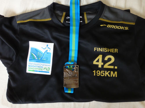 Finisher tee and medal.
