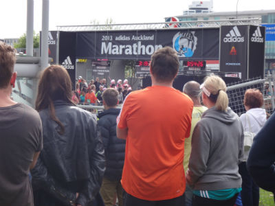 Imagine yourself crossing the finishing line at the marathon, to the cheers of your loved ones.