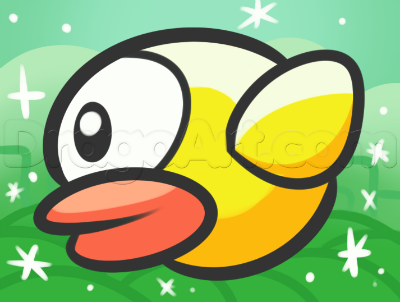 Yes, you can still play Flappy Bird even though it's officially gone. (Image from Dragoart.com)