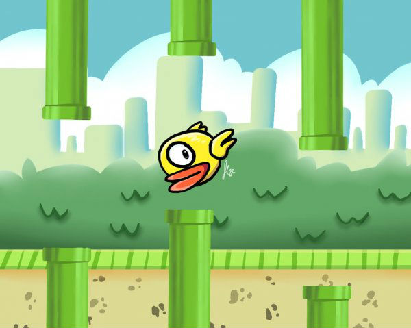 You can still get your hands on Flappy Bird (Taken from Dorkly.com)