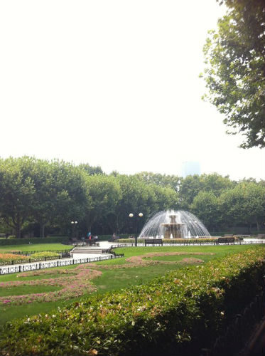 Fuxing Park, the biggest park in Shanghai and the place where Jia Zhen does her morning jogs.