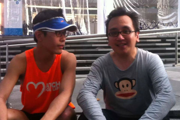 Gerrard Lin (Ah Siao) and KL runner Nicholas Leong (Image: Gerrard Lin)