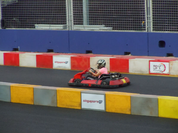And that's me, go-karting for the first time.