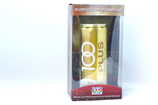 The 100PLUS Gold Can.