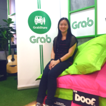 At Grab's office for the media launch of GrabShare.
