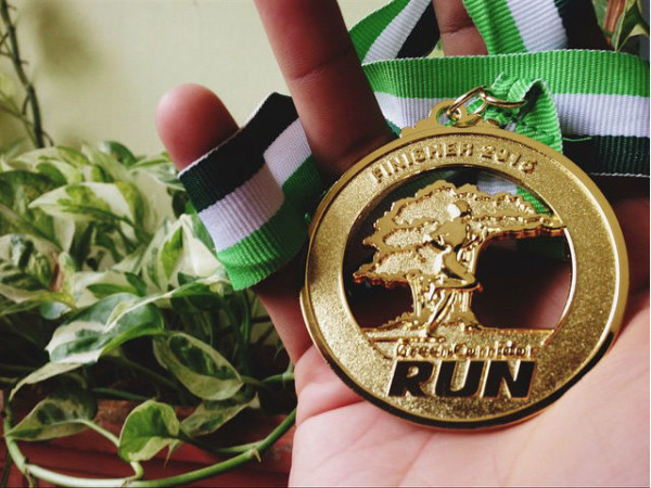 Medal given out to finishers at the Green Corridor Run this year. (Photo: Imran Ng)
