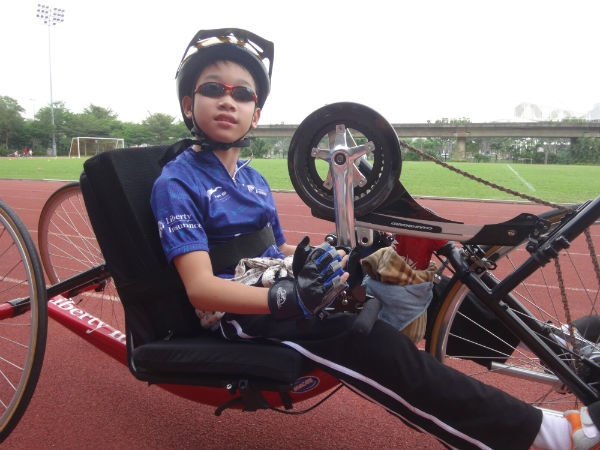 Age is no barrier to taking part in handcycling.