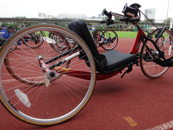 A bike for handcycling