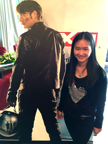 With the AXN poster of Hannibal.