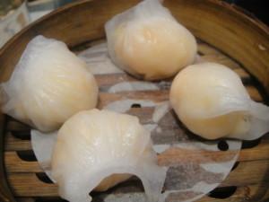 Prawn dumplings.