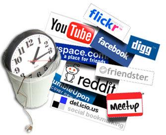 How do employees waste time at work? (Image: rethinkingyourweb.com)