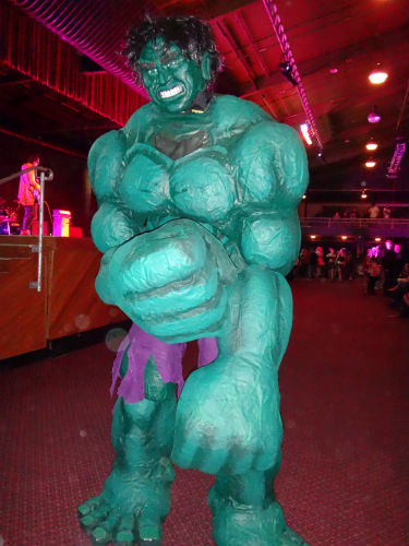 Eli Fernando as The Incredible Hulk at Armageddon 2013.