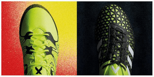 The new adidas X15 & Ace15. Credit: adidas