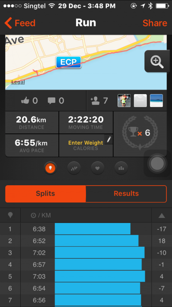Besides from the watch, you can also check out the readings via Strava App for both desktop and mobile.
