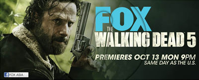 Prepare for the fifth season of The Walking Dead with a zombie marathon. (Credit; FOX).
